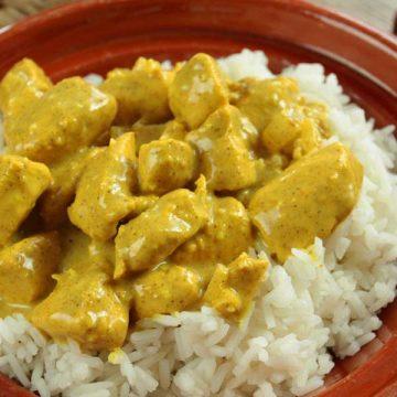 dinde curry riz